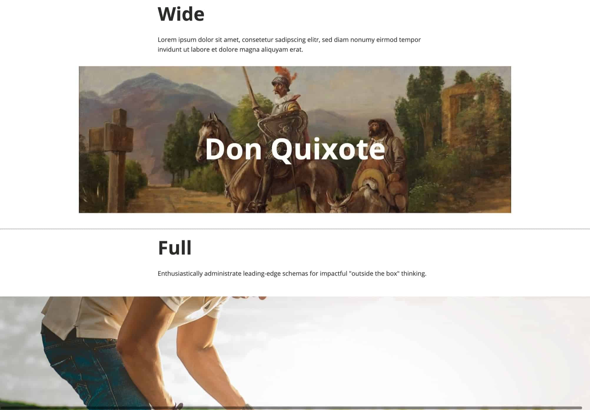 Wide and Full Gutenberg Elements in Oxygen